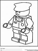 Lego Coloring Pages Police Print Train Conductor Printable Person Colouring Block Name Badge Hat Printables Sketch Policeman Sheets Sheet Batman sketch template