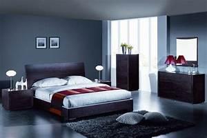 Deco Chambre A Coucher : deco chambre adulte bleu gris ~ Teatrodelosmanantiales.com Idées de Décoration