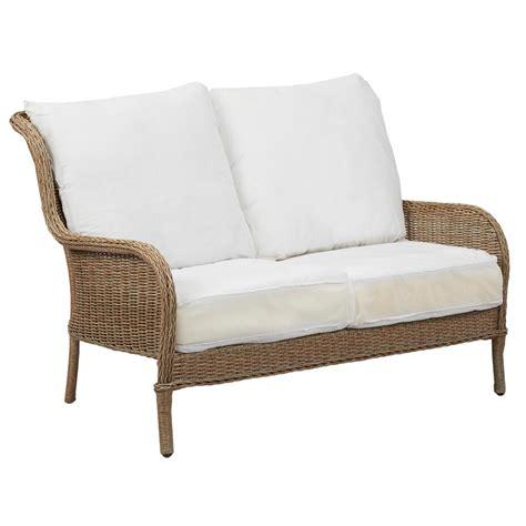 hton bay lemon grove patio loveseat with cushion insert