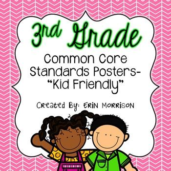 grade common core standards posters kid friendly