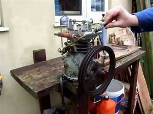 Gas Engine Made From An Old Refrigeration Compressor