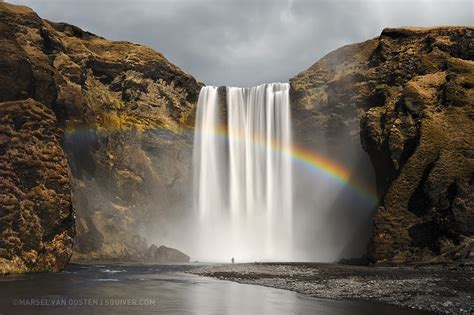 Beautiful Nature Images Waterfall With Rainbow