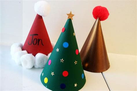 easy christmas party hat craft