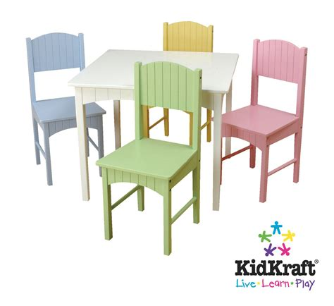 Kmart Cing Table And Chairs by Kidkraft Nantucket White Table And Pastel Chairs