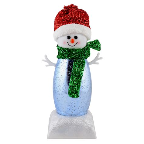 light up snowman musical decoration 25cm light up led snowman