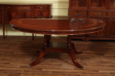 """72"""" High End Round Mahogany Dining Table With Duncan Phyfe"""