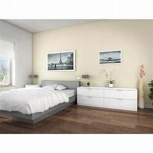 Commode Pas Cher Occasion : billund commode 4 tiroirs 160cm blanc achat vente ~ Teatrodelosmanantiales.com Idées de Décoration