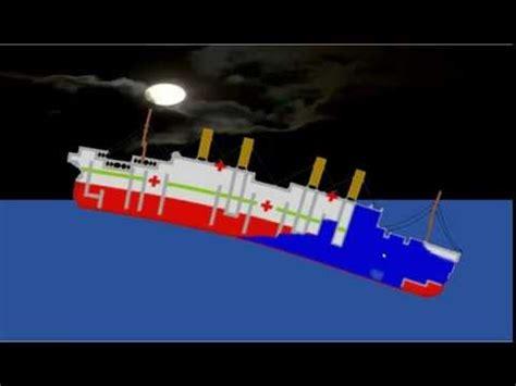 ship sinking simulator britannic and titanic sinking