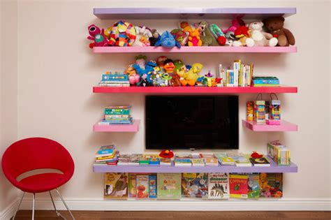 High Gloss Shelves For Kids Room-modern-kids Room