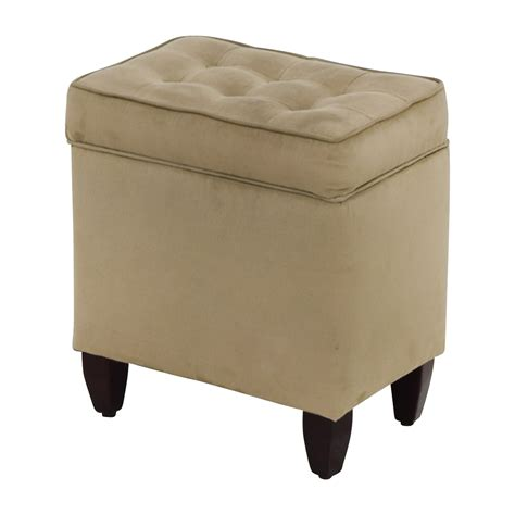 storage ottomans for sale 80 off beige tufted ottoman with storage chairs