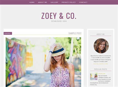 blog design zoey by erin designer blogs