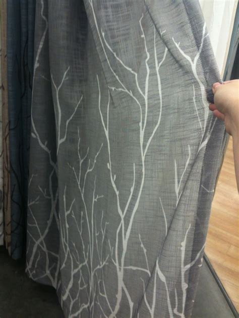 gray curtains bed bath and beyond gray curtain with white branches from bed bath and beyond
