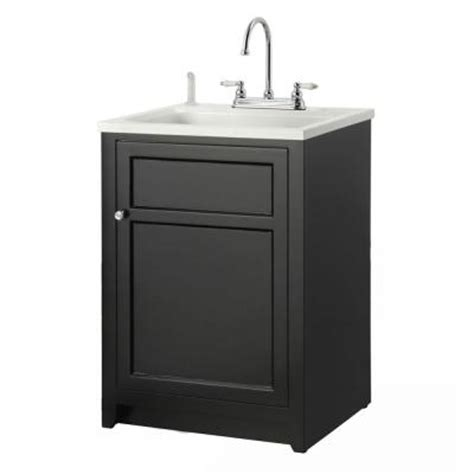home depot bathroom vanity sink combo foremost conyer 24 in laundry vanity in black and abs