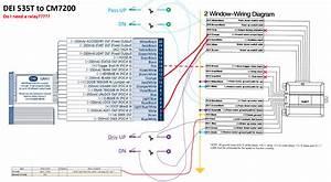 Installation Compustar Remote Starter   Window Roll