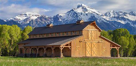 Large Barn Kits by Wood Barn Homes Garages Loft Living Sand Creek