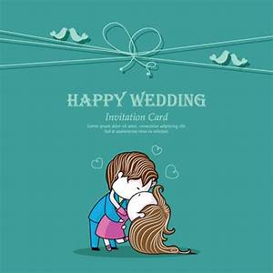 Set of Wedding Invitation cards elements vector graphics ...