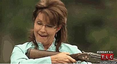 Palin Gifs Gun Funny Sarah Political Animated