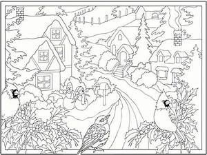 free winter printable coloring pages - 5 free winter scenes coloring pages realistic coloring pages