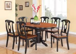 furniture kitchen sets 5 pc oval dinette kitchen dining set table w 4 wood seat chairs in black cherry ebay