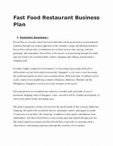 fast food restaurant business plan With how to make a business plan for a restaurant template