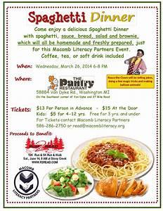 Spaghetti Dinner Fundraiser Flyer Template | www.pixshark ...