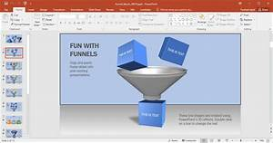 Animated Funnel Blocks Powerpoint Template