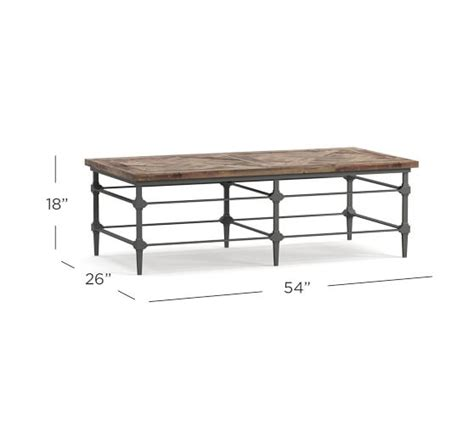 Lily's living reclaimed wood peking ming coffee table, small, 55 inch long, weathered white wash lily's living. Parquet Reclaimed Wood Rectangular Coffee Table   Pottery Barn