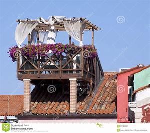 Auf Dem Dach : venedig terrasse auf dem dach stockbild bild von outdoor trennvorhang 27182561 ~ Frokenaadalensverden.com Haus und Dekorationen