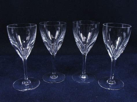 Set 4 Vintage Baccarat Crystal Stemware Genova 6.5