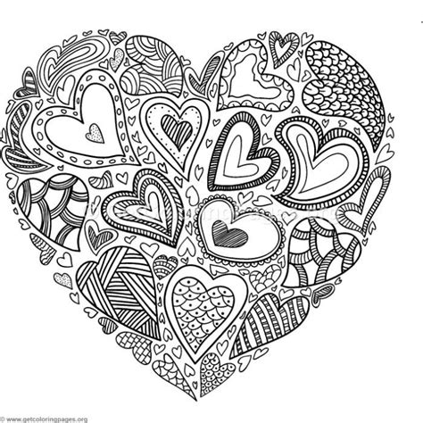 heart  hearts coloring pages getcoloringpagesorg