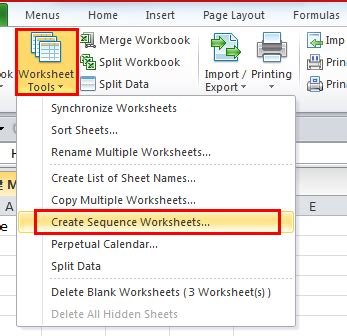 How To Add New Worksheets With Customized Names In Excel 20072010?