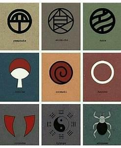 Símbolos dos clãs | Naruto shippuden | Pinterest | Symbols, Naruto and Anime