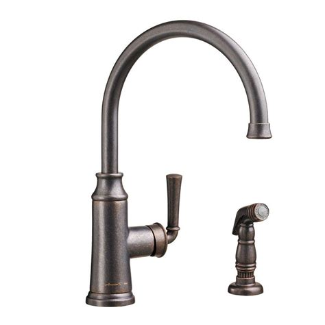 rubbed bronze kitchen sink faucet standard portsmouth single handle standard