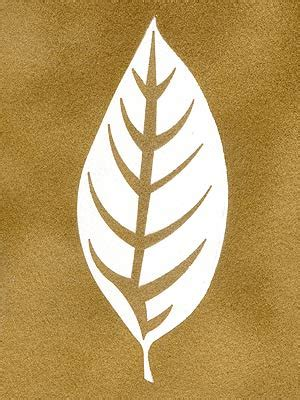 buckthorn leaf stencil henny donovan motif