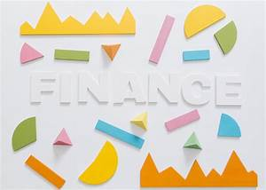 Obenliegende Ansicht Des Finanzwortes Mit Buntem Diagramm