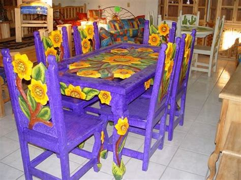 sunflower mexican dining table mexican home decor mexican furniture painted furniture