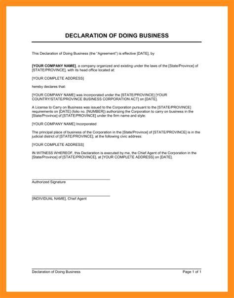 4 declaration form format fillin resume