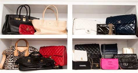 Luxury Closet Handbags by Kyle Richards Closet Of Designer Bags Wardrobe