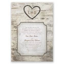 cheap wedding programs printed birch tree carvings wedding invitation rustic wedding