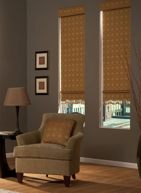 Decorative Window Shades by Add Flair With Decorative Roller Shades Featuring A