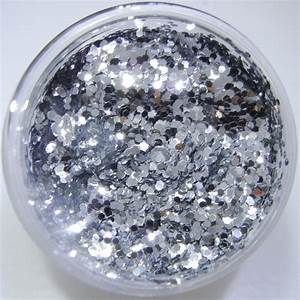 Sterling Silver Glitter Large Hex Cut