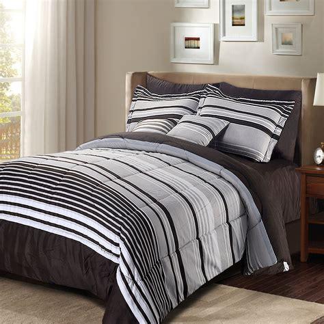 Comforter Sets Size For - luxury stripe bedding 8 comforter set striped