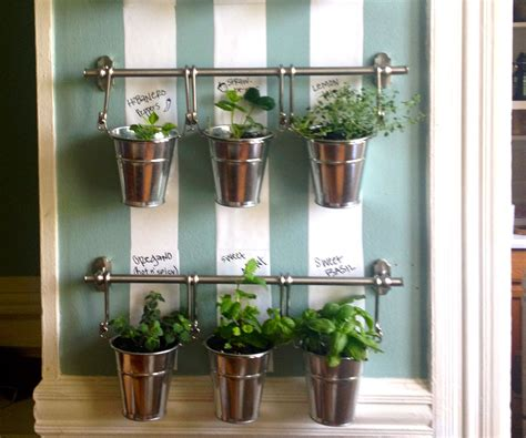 hanging indoor herb garden