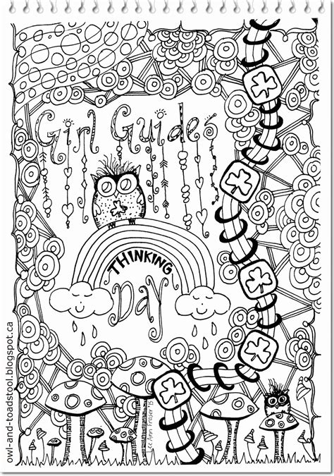 owl toadstool girl guide doodles