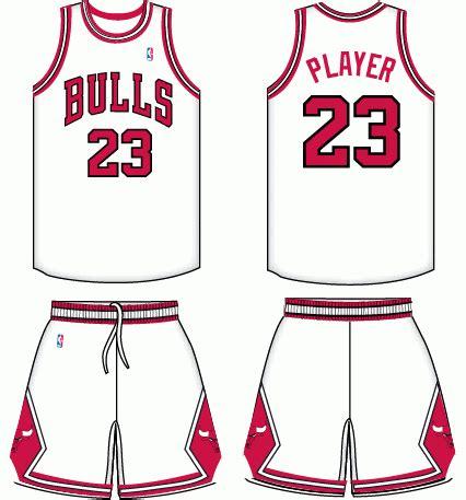 chicago bulls home uniform national basketball