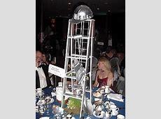 Blacktie Photos Towering silver centerpieces reflected