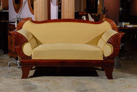 biedermeier settee mahogany biedermeier sofa at 1stdibs