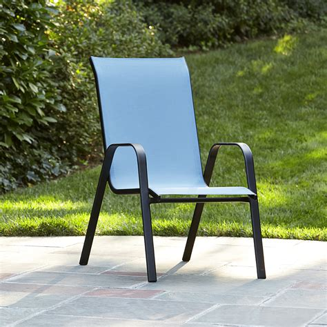 essential garden bartlett light blue stack chair limited