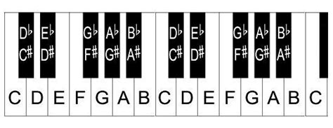 The Layout Of Notes On The Keyboard