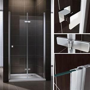 Porte De Douche Pliante : porte de douche pliante en verre de s curit transparent ~ Melissatoandfro.com Idées de Décoration